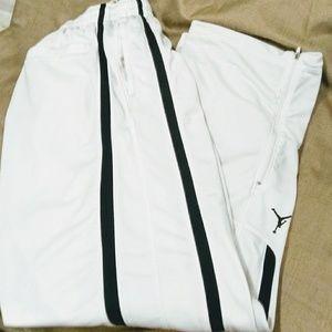 cb39fa4827f0 White w black stripes Jordan Athletic Pants